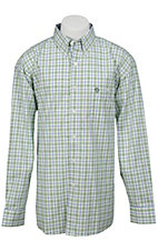 George Strait by Wrangler L/S Mens Plaid Shirt MGS54GMX