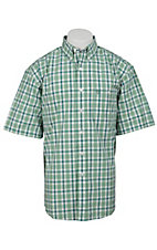 George Strait by Wrangler S/S Mens Plaid Shirt MGS55GM