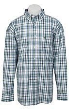 George Strait by Wrangler L/S Mens Plaid Shirt  MGS57GM