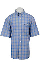 George Strait by Wrangler S/S Mens Plaid Shirt MGS65BM
