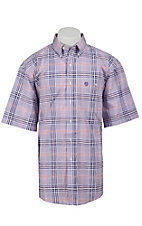 George Strait by Wrangler S/S Mens Plaid Shirt MGS74PM