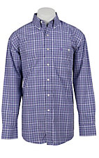 George Strait by Wrangler L/S Mens Plaid Shirt MGS76PM