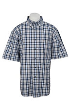 George Strait by Wrangler S/S Mens Plaid Shirt MGS78XMX