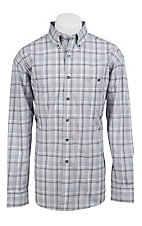 George Strait by Wrangler L/S Mens Plaid Shirt MGS80XM