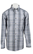 George Strait by Wrangler L/S Mens Plaid Shirt MGS82XM