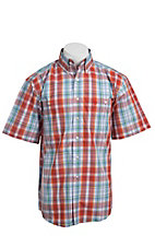 George Strait by Wrangler S/S Mens Plaid Shirt MGS92OM