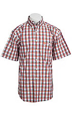 George Strait by Wrangler S/S Mens Plaid Shirt MGS93OMX - Big and Tall