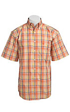 George Strait by Wrangler S/S Mens Plaid Shirt MGS95OMX - Big and Tall