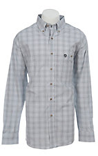 George Strait by Wrangler L/S Mens Plaid MGS972M