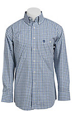George Strait by Wrangler L/S Mens Plaid Shirt MGSB008