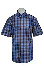George Strait by Wrangler S/S Mens Plaid Shirt MGSB018
