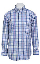 George Strait by Wrangler L/S Mens Plaid Shirt MGSB021X