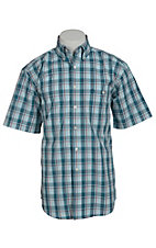 George Strait by Wrangler S/S Mens Plaid Shirt MGSG001