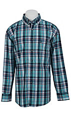 George Strait by Wrangler L/S Mens Plaid Shirt MGSG007