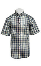 George Strait by Wrangler S/S Mens Plaid Shirt MGSN019X