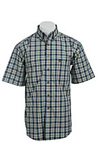 George Strait by Wrangler S/S Mens Plaid Shirt MGSN019