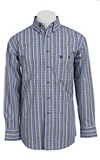 George Strait by Wrangler L/S Mens Plaid Shirt MGSN023
