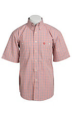 George Strait by Wrangler S/S Mens Mini Plaid Shirt MGO009