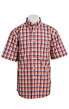 George Strait by Wrangler S/S Mens Plaid Shirt MGSO10