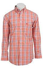 George Strait by Wrangler L/S Mens Plaid Shirt MGSO015