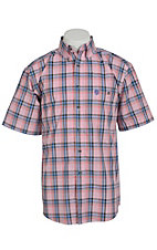 George Strait by Wrangler S/S Mens Plaid Shirt  MGSR025