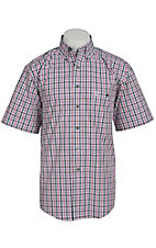 George Strait by Wrangler S/S Mens Plaid Shirt MGSR026