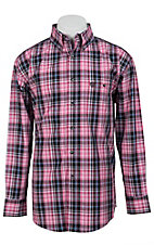 George Strait by Wrangler L/S Mens Plaid Shirt  MGSR027
