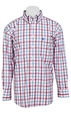 George Strait by Wrangler L/S Mens Plaid Shirt MGSR029X