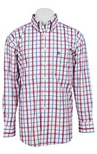 George Strait by Wrangler L/S Mens Plaid Shirt MGSR029