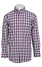 George Strait by Wrangler L/S Mens Plaid Shirt MGSR031