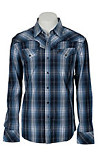 Indigo Star Mens L/S Western Snap Shirt MIFL1609NV