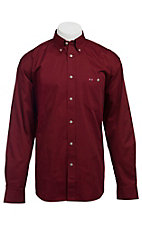 Larro™ L/S Mens Solid Burgundy Shirt MLSL901BY