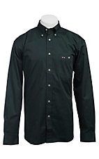 Larro™ L/S Mens Solid Hunter Green Shirt MLSL901HG
