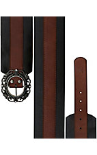 Miss Me® Ladies Two-Tone Brown on Black Wide Waist Belt