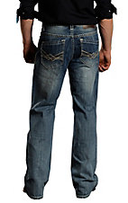 Rock & Roll Cowboy Light Stonewash Cannon Loose Fit Straight Leg Jeans MOC674644