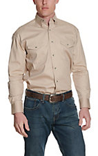 Wrangler® Painted Desert L/S Western Shirt Tan MP3482TX2