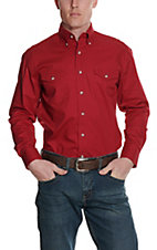 Painted Desert by Wrangler L/S Mens Red Shirt MP3522RX2