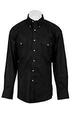 Painted Desert by Wrangler L/S Mens Black Shirt MP4282BT