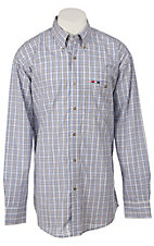 Wrangler® National Patriot™ Men's L/S Plaid Western Shirt MPP262M