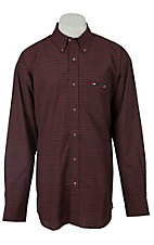 Wrangler® National Patriot™ Men's L/S Plaid Western Shirt MPP265M
