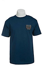 Cowboy Hardware Men's Blue Genuine & Authentic Short Sleeve Tee
