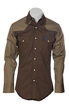 Wrangler® Chocolate Rawhide 2 Tone Workshirt