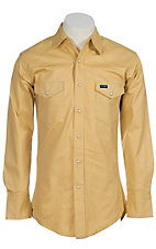 Wrangler® Tan Twill Long Sleeve Snap Workshirt