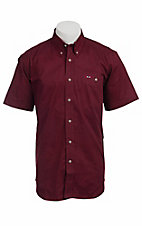 Larro™ S/S Mens Solid Burgundy Shirt MSSL901BY