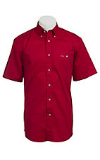 Larro™ S/S Mens Solid Red Shirt MSSL901RD