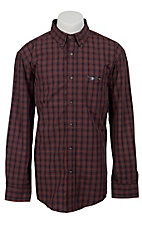 Trevor Brazile Relentless™ by Wrangler® L/S CoolMax® Plaid Shirt MTB223M