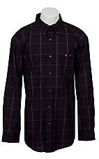 Trevor Brazile Relentless™ by Wrangler® L/S CoolMax® Plaid Shirt MTB224M