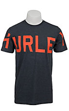 Hurley® Navy Read Me w/ Orange Logo Premium Fit Short Sleeve Tee