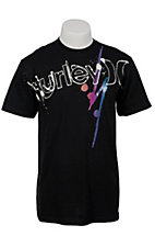 Hurley® Men's Black Loathing Classic Fit Logo Short Sleeve Tee