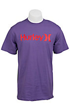 Hurley® Purple Classic Fit Logo Short Sleeve Tee